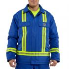 Carhartt 100161 Flame-Resistant Duck Traditional Coat with Reflective Striping/Quilt-Lined
