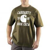 Carhartt 100404 Short Sleeve Work Crew Graphic T-Shirt Closeout