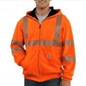 Carhartt 100504 Class 3 High-Visibility Thermal Lined Zip-Front Sweatshirt