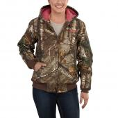 Carhartt 101216 Women's Camo Active Jac - Quilt Flannel Lined