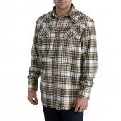 Carhartt 102015 Flame-Resistant Snap Front Plaid Shirt