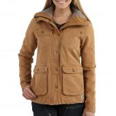Carhartt 102247 Women's Weathered Duck Wesley Coat - Fleece Lined