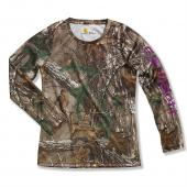 Carhartt CA9292 Force® Long Sleeve Camo Top - Girls Closeout