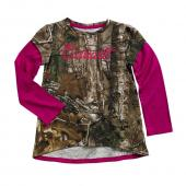 Carhartt CA9360 Camo Layered Sleeve Tee - Girls