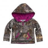 Carhartt CA9361 Hooded Camo Quarter Zip Sweatshirt - Girls