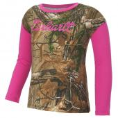 Carhartt CA9428 Camo Layered Sleeve Tee - Girls