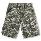 Carhartt CH8234 Washed Camo Ripstop Cargo Short- Boys Closeout
