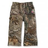 Carhartt CK9372 Washed Camo Canvas Pant - Girls Closeout