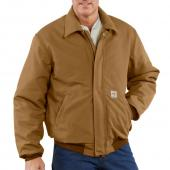 Carhartt FRJ195 Flame-Resistant Duck Bomber Jacket - Quilt Lined