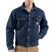 Carhartt J292 Denim Jean Jacket - Sherpa Lined Closeout