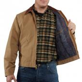 Carhartt RNJ001 Detroit Naturally Worn Duck Jacket - Blanket Lined