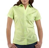 Carhartt WS015 Women's Short-Sleeve Gingham Shirt Closeout