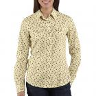 Carhartt WS019 Women's Snap Front Printed Cotton Shirt Closeout