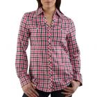 Carhartt WS023 Women's Roll-Up Sleeve Button Front Flannel Shirt Closeout