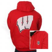 TeamWorx 36WI Wisconsin Canvas Hooded Jacket